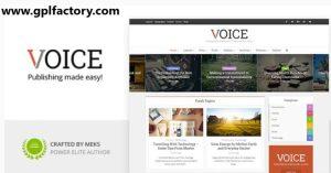 Voice wordpress Theme GPL