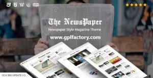 the newspaper theme