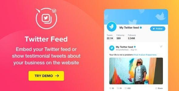 Twitter Feed v1.4.0 – WordPress Twitter Plugin