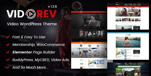 VidoRev – Video WordPress Theme