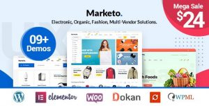 Marketo - ECommerce & Multivendor A Woocommerce WordPress Theme features