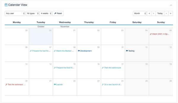 UpStream-Calendar-View-Extension