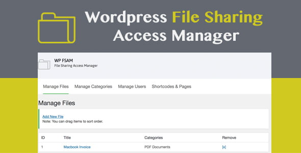 WP FSAM – File Sharing Access Manager