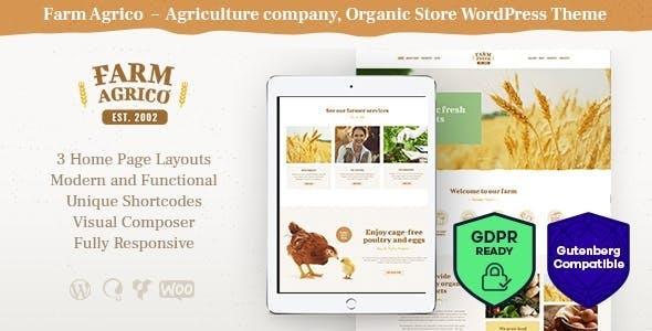 Farm Agrico - Agriculture WordPress Theme GPL