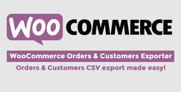 WooCommerce orders and customer exporter
