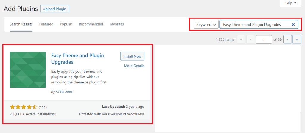 how to update plugin without deleting old version