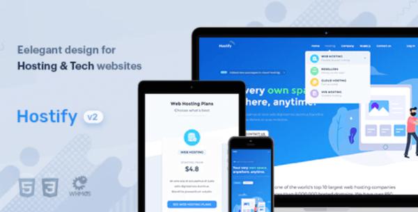 hostify hosting company template